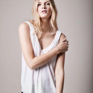 Smythe Elastic Strap Camisole in White